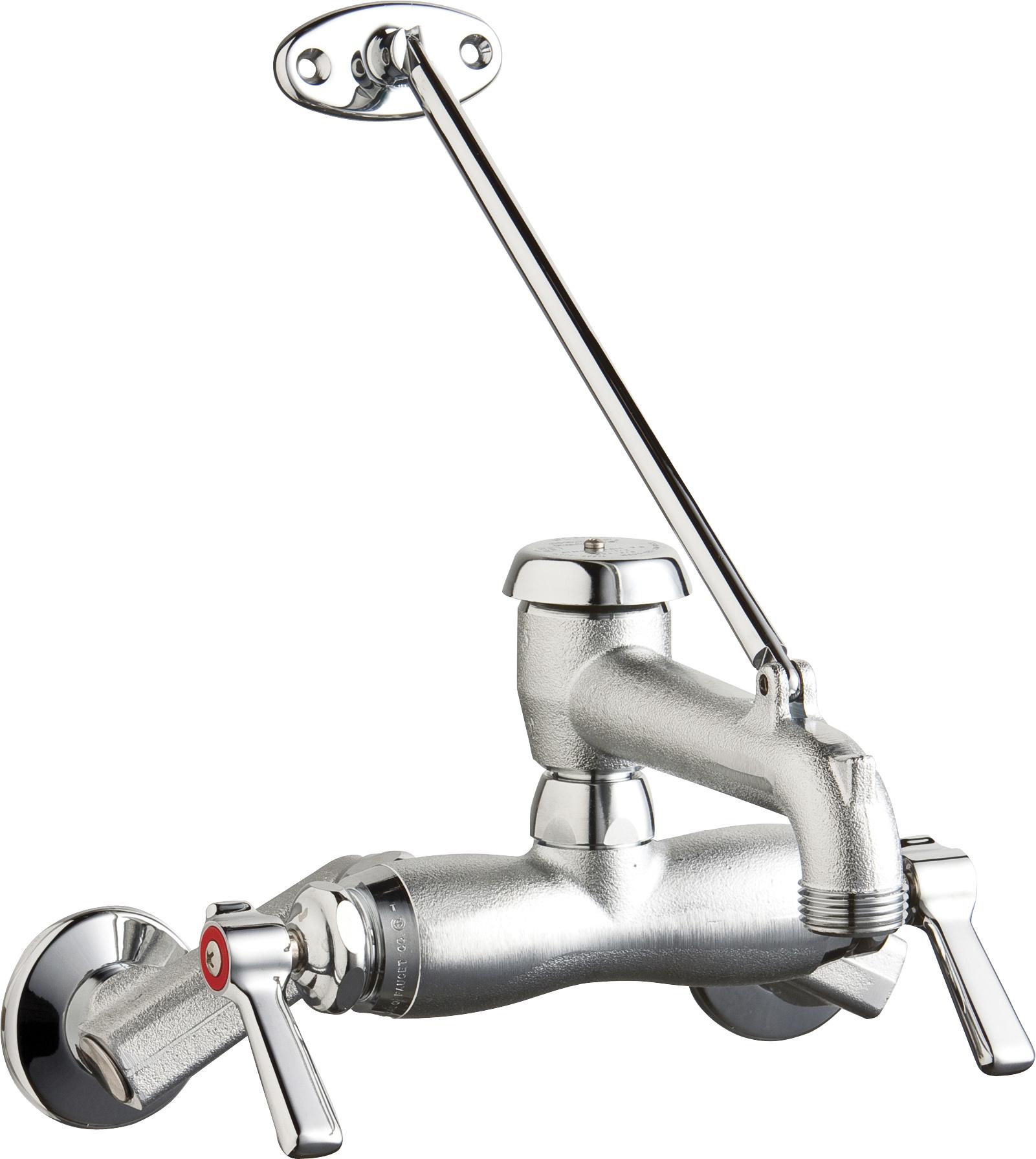 chicago faucet commercial two handle mop sink faucet rough chrome
