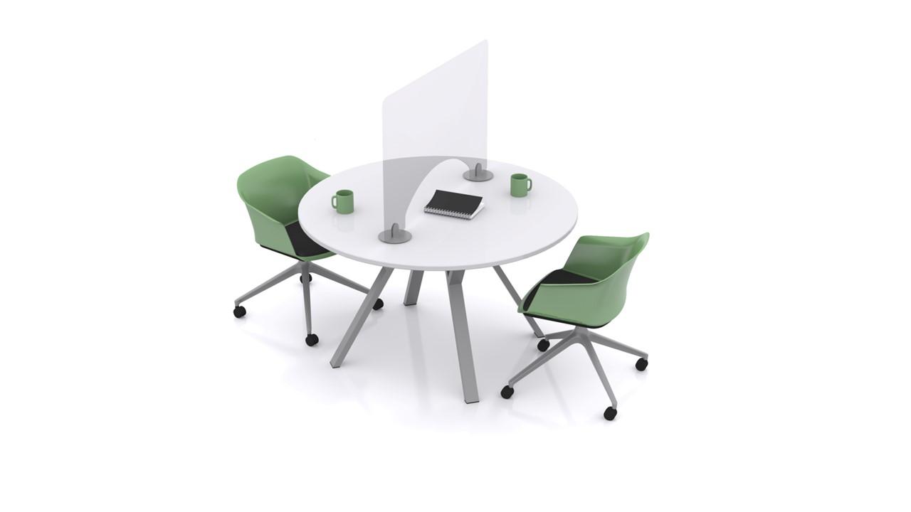 Desk with Park Protek protective screen