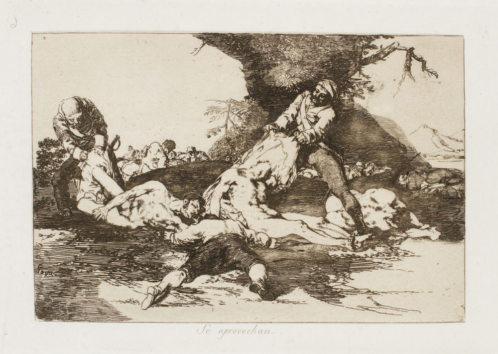 """""""Se aprovechan"""" (They make use of them), (1810-1820), Francisco Goya Park West Gallery"""