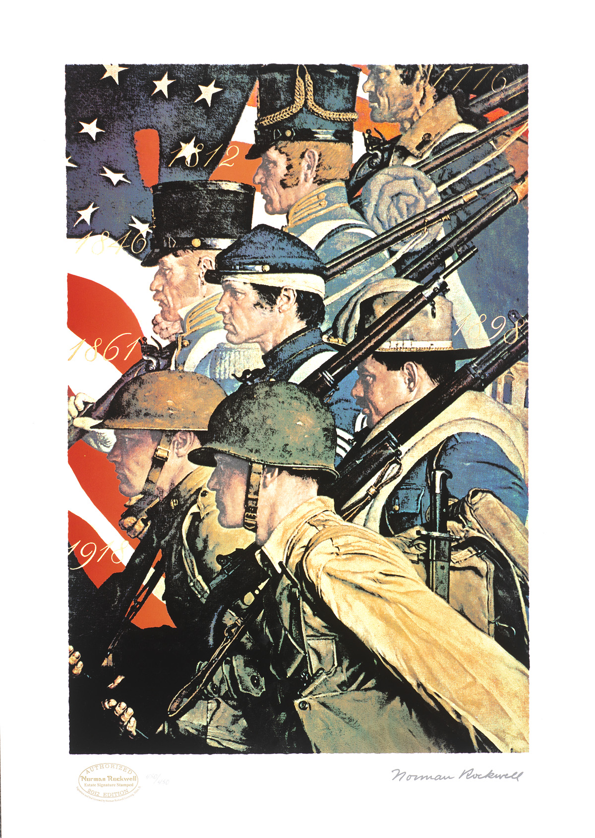 """A Pictorial History of the United States Army"" (2012) Norman Rockwell"