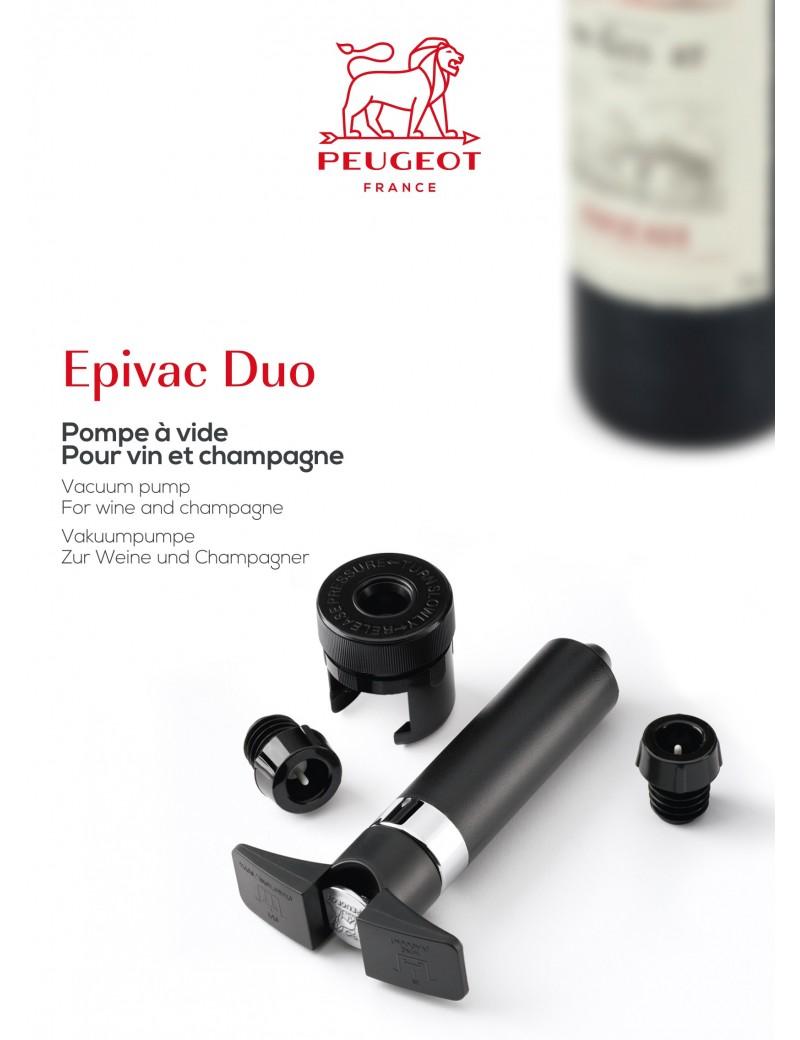 pompe a vide pour vins et champagnes epivac duo art de la table parlapapa