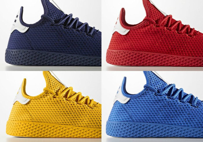 """bad9ab843b130 Pharrell Williams Set to Release New Adidas Hu Tennis Sneaker Pack """"Solid""""  Collection"""