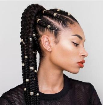 natural hairstyles - goddess braids
