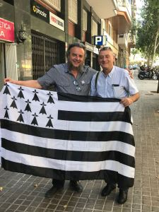 Avec Jaume Bardolet, membre de la gauche indépendantiste Catalane.(CUP)