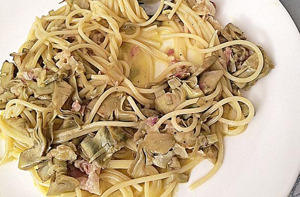 Carbonara-di-carciofi-ricetta-parliamo-di-cucina