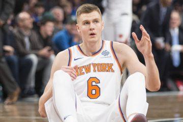 Kristaps Porzingis sous le maillot des Knicks