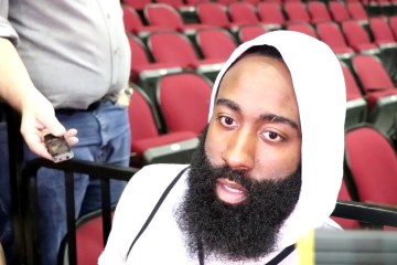 James Harden en plein interview
