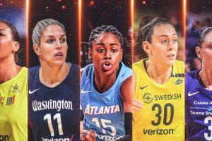 Liz Cambage, Elena Delle Donne, Tifanny Hays, Breanna Stewart et Diana Taurasi composent la First All-WNBA Team