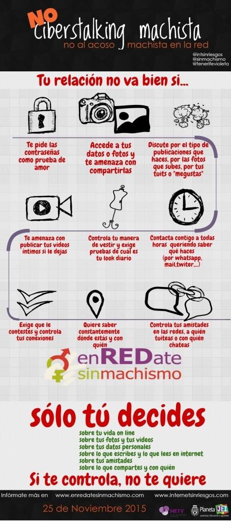 No al acoso machista en internet - Internet sin riesgos - Infografia