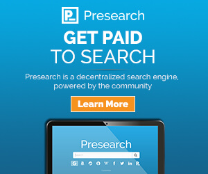 Banner provisto por Presearch