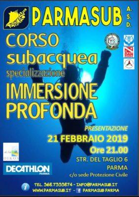Corso Specializzazione IMMERSIONE PROFONDA