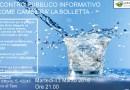 Cambia la bolletta dell'acqua Questa sera ore 21 Sala Civica Fornovo incontro con il gestore Montagna 2000