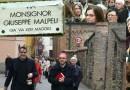 L'inaugurazione di via Mons Giuseppe Malpeli a Fornovo.