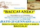 Baccalando Sabato 25 gennaio al Foro 2000 di Fornovo Taro