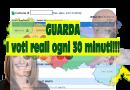GUARDA I VOTI REALI  per la presidenza della Regione Emilia Romagna. AGGIORNAMENTO OGNI 30 MINUTI