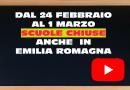 EMILIA ROMAGNA. Dal 24 febbraio 2020 al 1 marzo 2020 SCUOLE CHIUSE e….