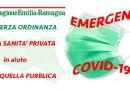 SANITA' PRIVATA in AIUTO a quella PUBBLICA 3° decreto Presidente Regione Emilia Romagna