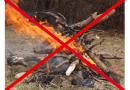 Vietato bruciare residui agricoli e forestali in tutta la regione.