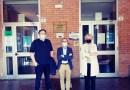 Primo giorno di scuola. Il presidente della Provincia di Parma Rossi in visita allo Zappa-Fermi
