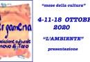 Ottobre cultura 2020 L'AMBIENTE Associazione Culturale La Pergamena – presentazione