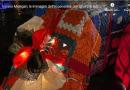 Varano Melegari, le immagini dell'accensione dell'albero di Natale fatto di presine.