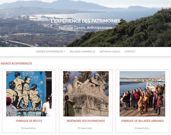 Page d'accueil du site nexperiences.com