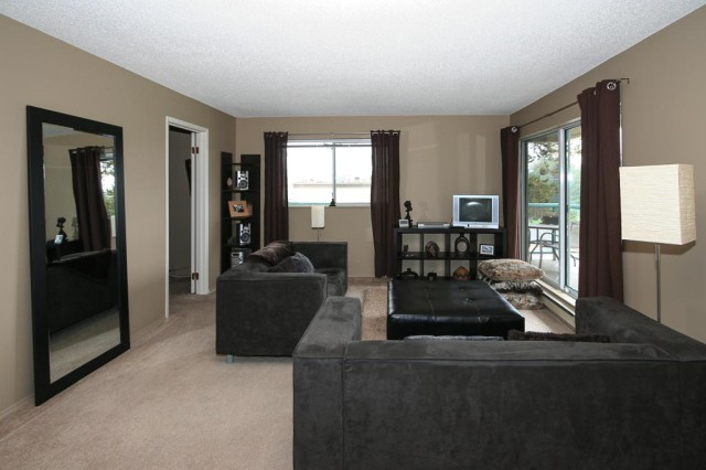 best wall colors for living room with dark brown furniture traditional color schemes how to make a space feel larger | parnell painting nanaimo ...
