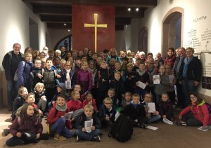 Les enfants à la découverte du Mont St Odile