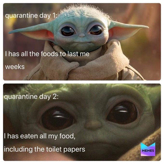 quarantena cibo baby yoda