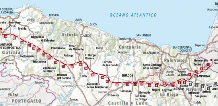Il Cammino di Santiago: tappe, regioni e città principali