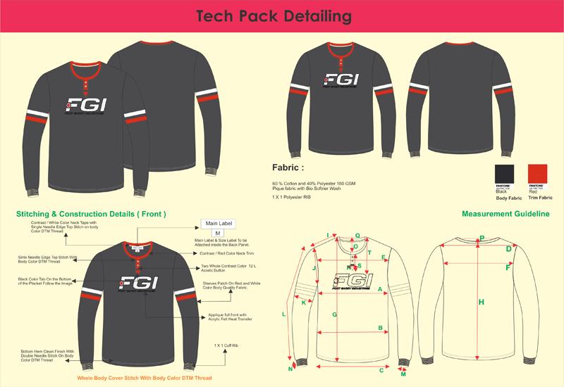 Tech-Pack-Detailing , fashion technical drawing