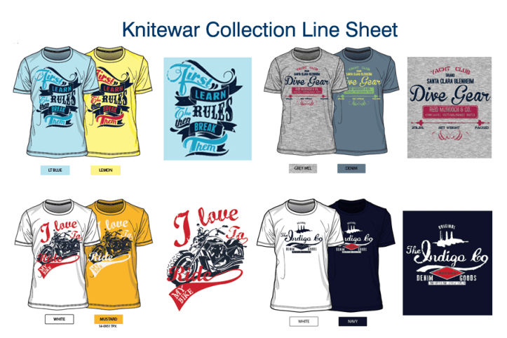 Knitwear Designer Collection Line-Sheet