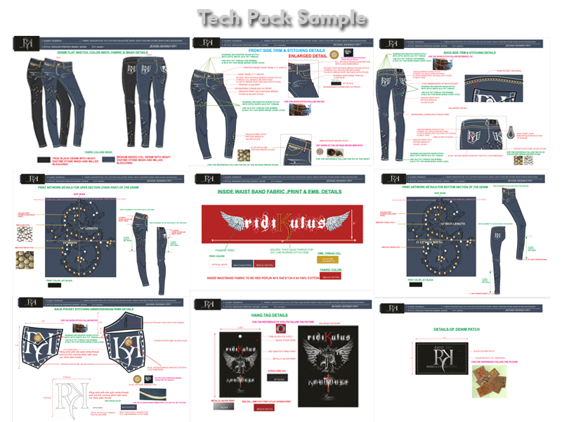 Apparel Production Tech Pack, Tech Pack Designer