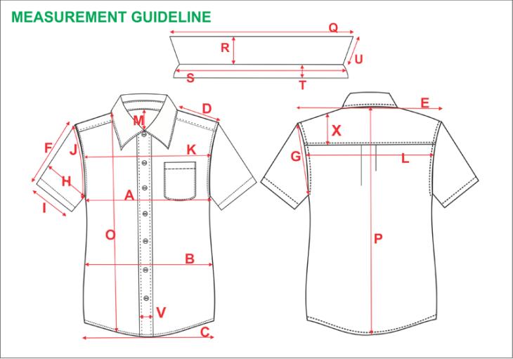 Measurement Specs , Technical Apparel Designer