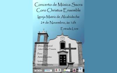 Concerto de Música Sacra -Igreja de Alcabideche – 24 de Novembro – 16H00