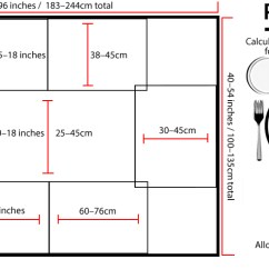 Kitchen Table Sizes Snake Sink How To Calculate The Best Dining Size For Your Room Standard Plate Setting