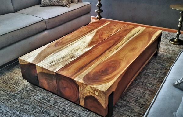 Parota Wood Coffee Tables Custom In Mexico