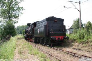 Tr12-25 manewruje na terenie Skansenu.
