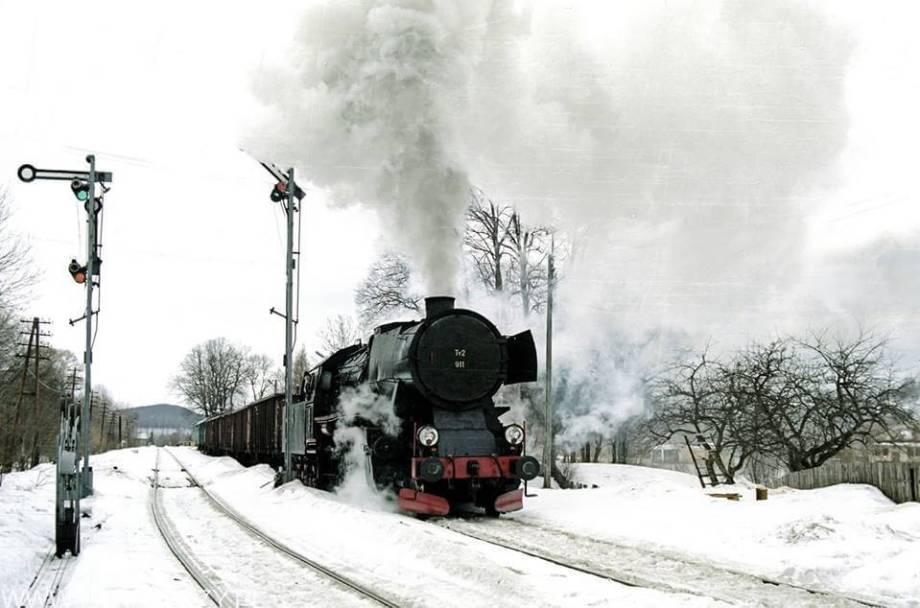 Zagórz - Łupków 1.02.2000. Fot. Łukasz Alczewski.