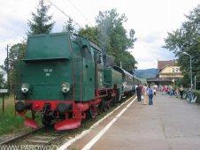TKt48-191 z pociągiem Mszana Dolna-Chabówka 21.08.2004. Fot.: © Tomasz Żakowski .