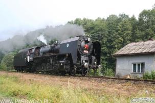 """556.036 """"luzem"""" Rabka-Zdrój. Parowozjada'2006-przejazd z Rabki Zarytego do Chabówki. Fot.: Henryk Mazurek."""