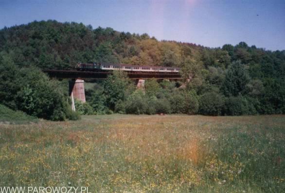 Niestety z przyczyn bezpieczeństwa (awaria hamulców) nie wjechaliśmy na wiadukt-ma on 140 metrów długości i 40 metrów wysokości.