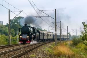 Ty42-107 z rocznicowym pociągiem w Warszawie. Fot.: Paweł Guraj/ www.pawel.online
