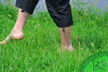 Walking Barefoot On Grass