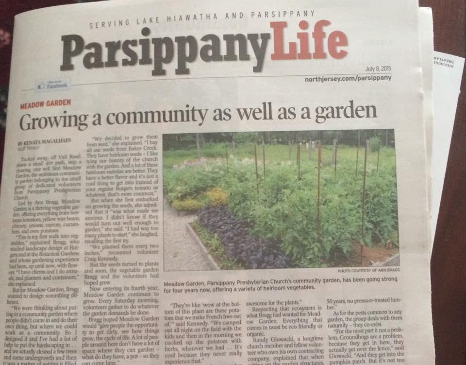 The Meadow Garden Made the Newspaper!