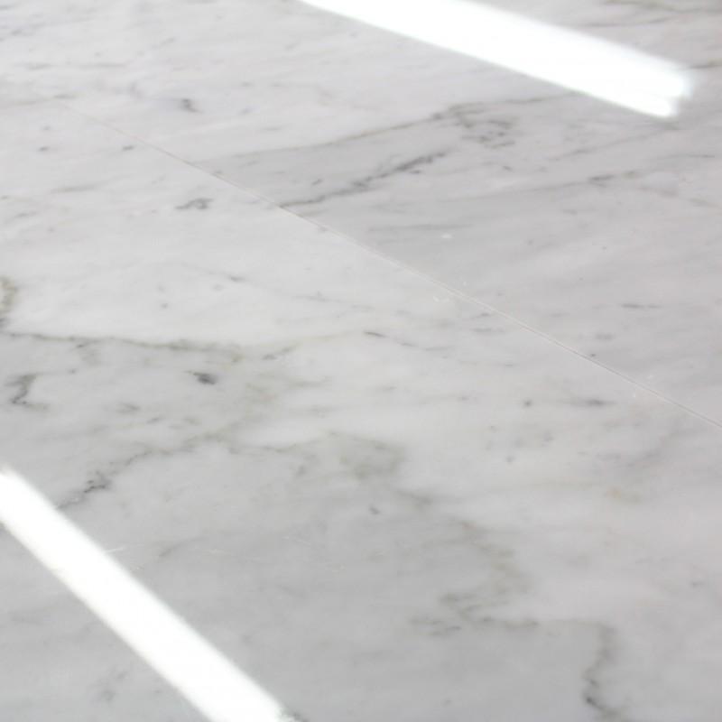 Carrelage 100 Marbre Blanc Poli Carrare 30x60 cm marbre pas cher