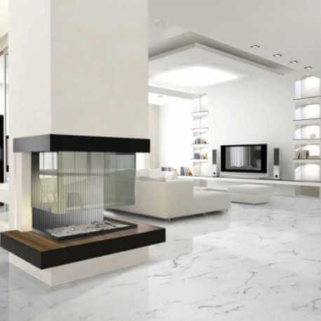 Carrelage sol et mur Statuario brillo 30x60 carrelage aspect marbre poli