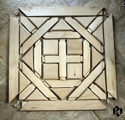 Montage d'un panneau bois massif