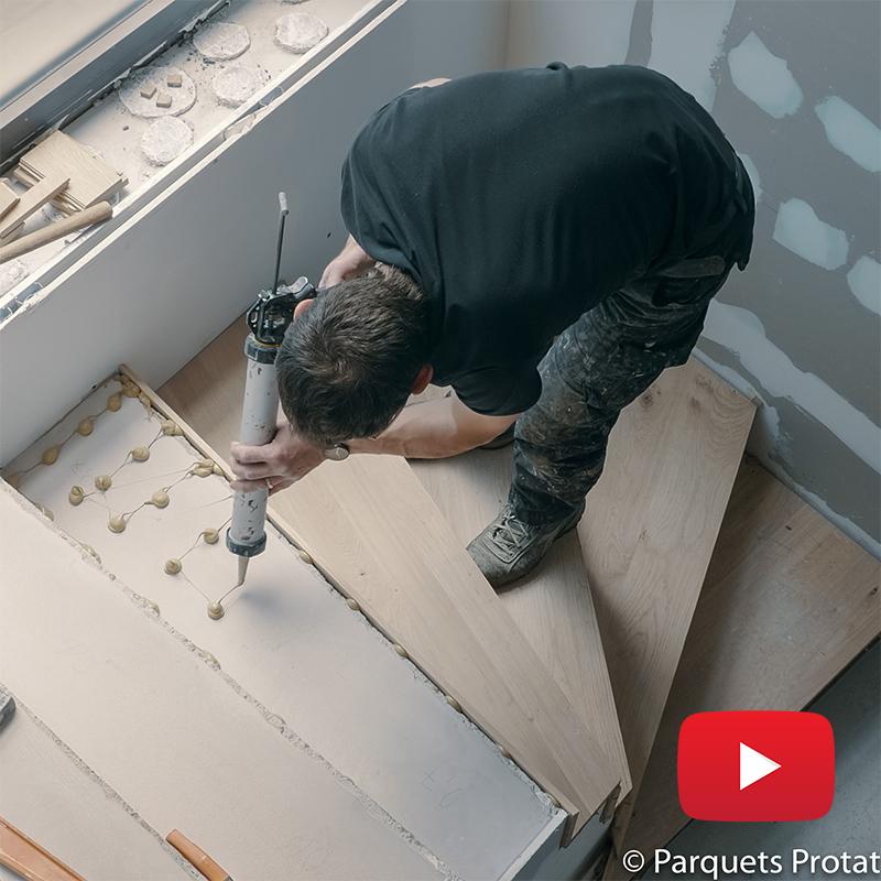 Actualites Pose De Panneaux En Chene Massif Habillage D Un Escalier En Beton