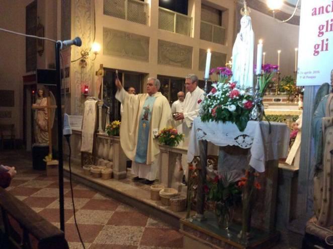 Pellegrinaggio Mariano Cognento, Messa vicario generale don Giuliano Gazzetti